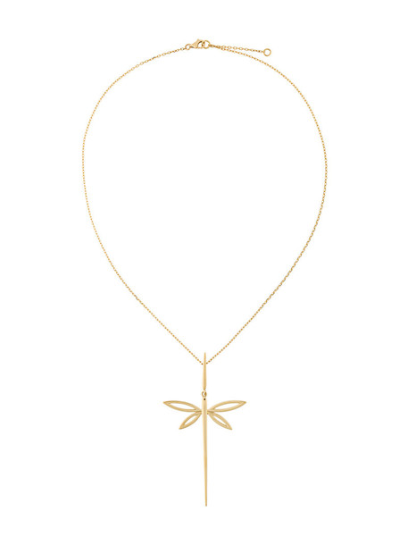 Anapsara women dragonfly necklace gold yellow orange jewels