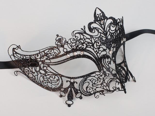 Masque de venise en filigrane, noir.
