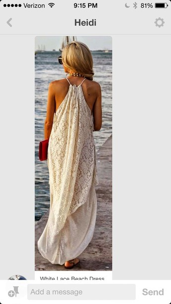 dress lace spaghetti strap beach dress