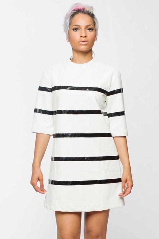 MOD SQUAD Black White Dress – FLYJANE