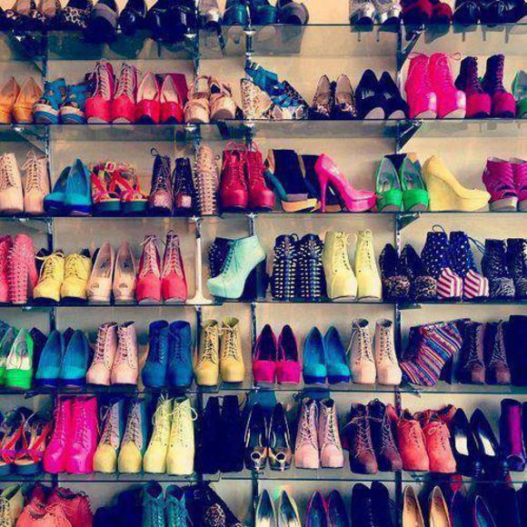 shoes colourful heaven much booties high heels spiked shoes wedges love all