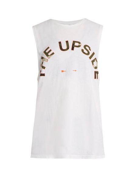 The Upside tank top top print white