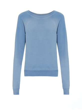 sweatshirt cotton light blue light blue sweater