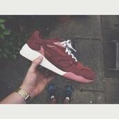 shoes,instagram,puma,burgundy,burgundy sneakers