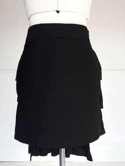 skirt black skirt ruffles