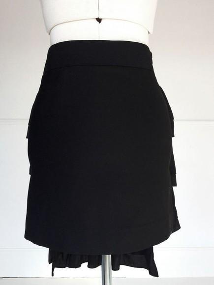 ruffles skirt black skirt