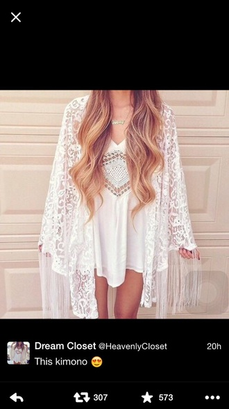 dress kimono lace dress
