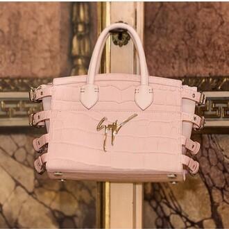 bag pink stylish classy giuseppe zanotti