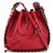 Valentino valentino garavani rockstud bucket shoulder bag, women's, red, leather/cotton/metal