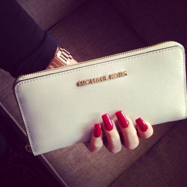 ae04ea072178 bag white purse white clutch white purse clutch michael kors clutch gold  michael kors