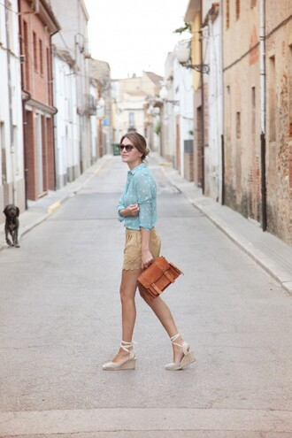 my daily style shirt shorts shoes bag suede shorts