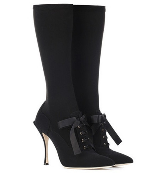 Dolce & Gabbana Stretch-knit boots in black