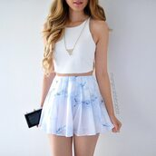 skirt,top,white top,summer,gold necklace,blouse,white,jewels,shirt,blue,pastel,pastel blue,pink,blue white pink,pastel pink,black blue white pink,dress,blue skirt,love,multicolor,light blue,crop tops,circle skirt,skater skirt,flirty,white skirt,marble,tumblr,tumblr girl,tumblr outfit,white crop tops,shorts,light blue flowy shorts,flowy shorts,High waisted shorts,plissed,marble tee,pliss?,short,2016,spring,spring skirt,floral,fashion,outfit,look,marbel,pleated skirt,colorful,marble skirt,tank top,set,two piece dress set,blue shorts,necklace,blue white,crop,similar and low price,shoes,clothes,girl,sweet,t-shirt