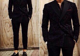 black jacket suit jacket suit man suit