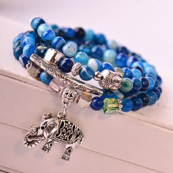 jewels bracelets fashion blue