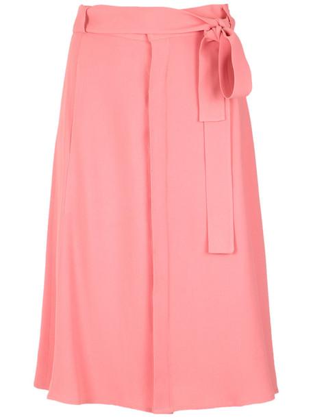 Egrey - Geneve midi skirt - women - Acetate/Viscose - 44, Yellow/Orange, Acetate/Viscose
