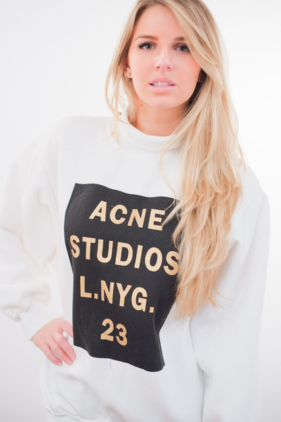 ACNE Beta Double Logo Sweater – Glamzelle