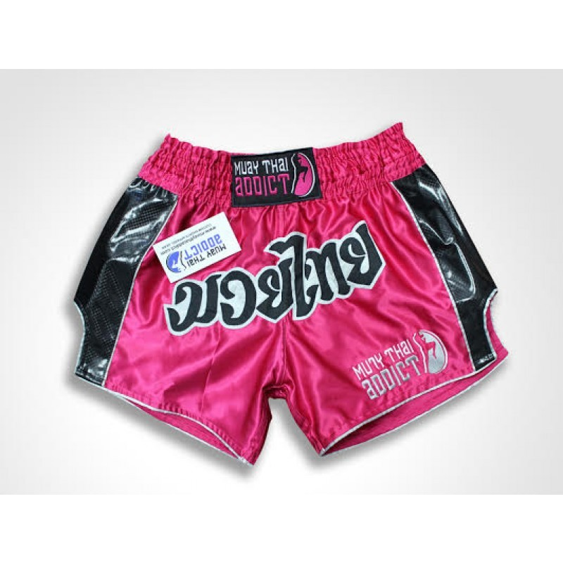 Flashy Hot Pink Carbon Fiber Retro Shorts