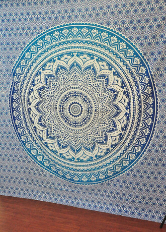 home accessory ombre tapestry blue tapestry hippie wall hanging bedding blanket bedcover mandala tapestries wall decor