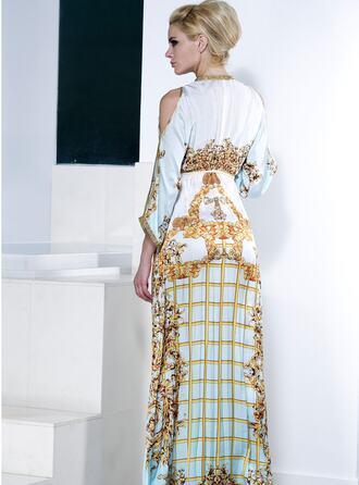 dress baccio baccio couture gold print resort wear silk dress white bikiniluxe