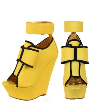 YELLOW BOW CRESENCIA WEDGE
