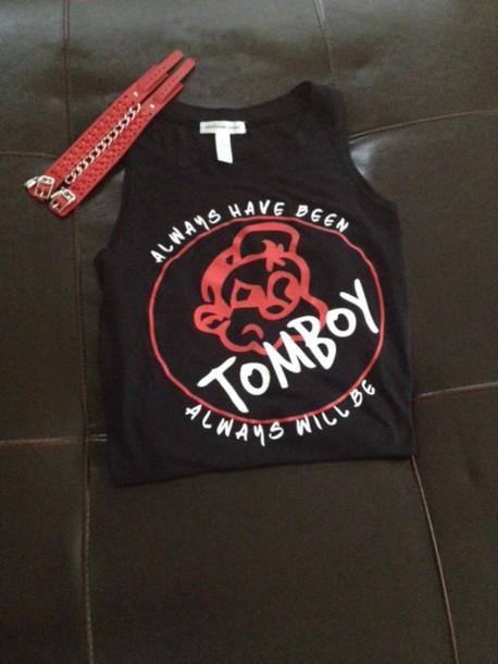 shirt, dope, black, tank top, t-shirt, clothes, tomboy ...