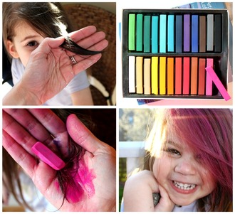 nail polish hair dye colourful pastel hair