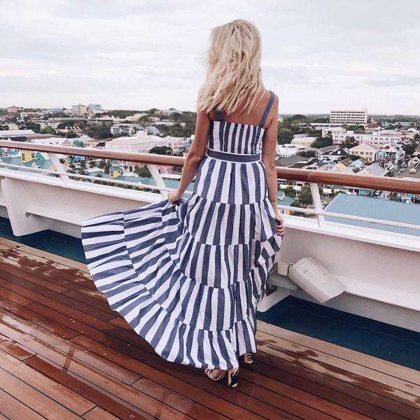 1fe55bbd6c5 dress tumblr maxi dress long dress stripes striped dress sandals sandal  heels high heel sandals.