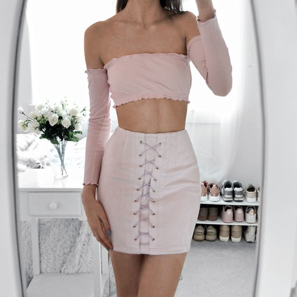 top girly pink cute fashion style summer long sleeves
