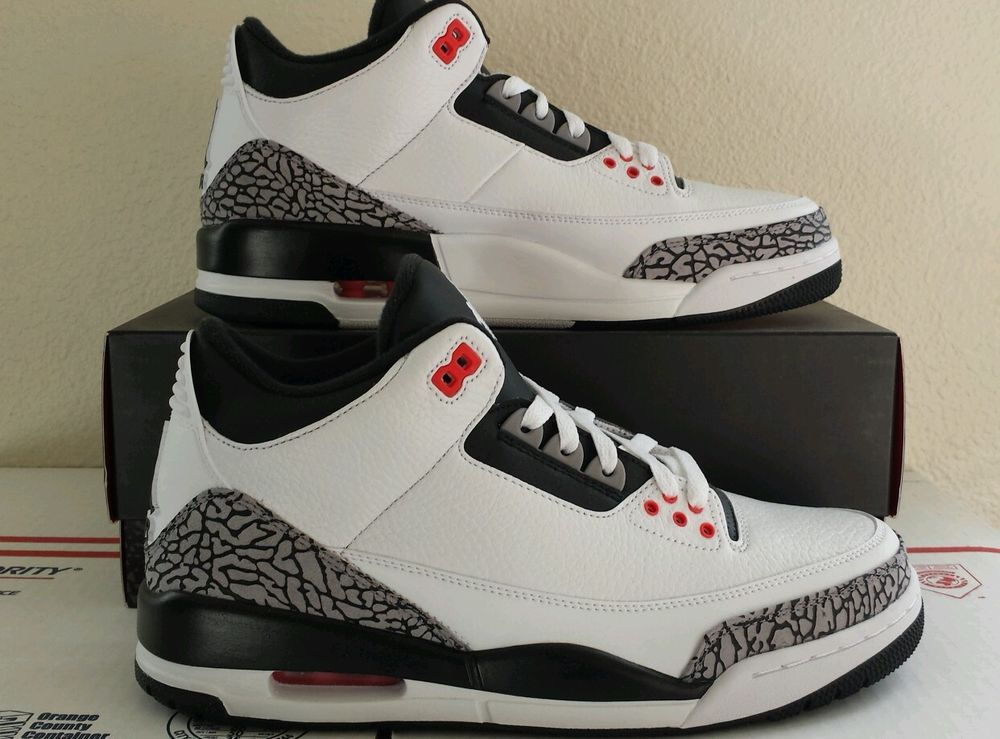 jordan retro 3 black cement ebay usa