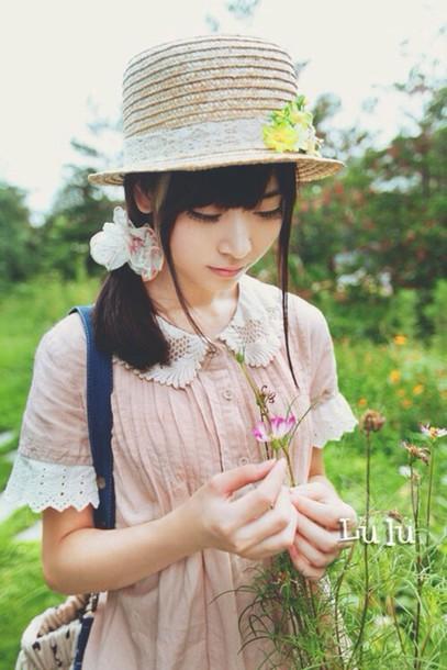 blouse mori pink j fashion