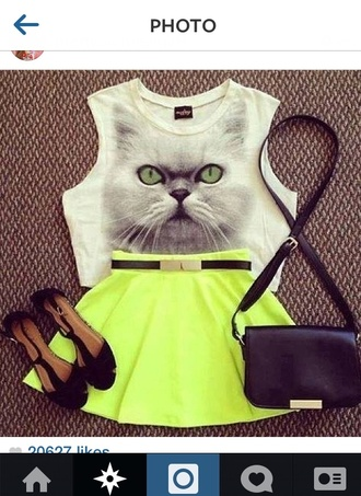 skirt crop tops instagram lime