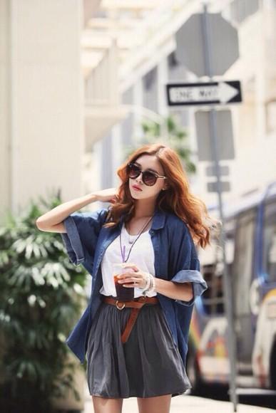 blouse blue blouse