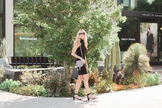 modern ensemble blogger dress shoes scarf bag shoulder bag black dress sandals mid heel sandals spring outfits