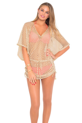 swimwear 2016 cover up gold luli fama mesh top bikiniluxe