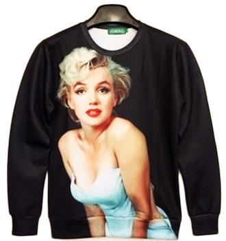 shirt marilyn monroe sweater sweatshirt