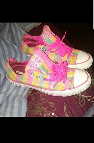 shoes pink yellow green converse pastel kawaii cute low top colorful vibrant