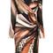 Roberto cavalli - leopard print wrap dress - women - polyamide/spandex/elastane - 48, brown, polyamide/spandex/elastane