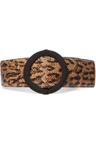 snake python belt waist belt leather print snake print
