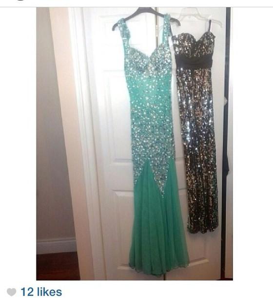 dress blue prom dress prom dress sparkly dress blue dress