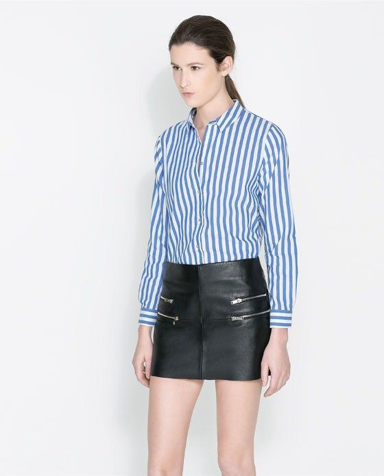New Women Blue Striped Prints Casual Blouse Ladies leisure Shirt,SW2064 G02-in Blouses & Shirts from Apparel & Accessories on Aliexpress.com