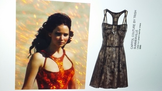 catching fire katniss everdeen dress
