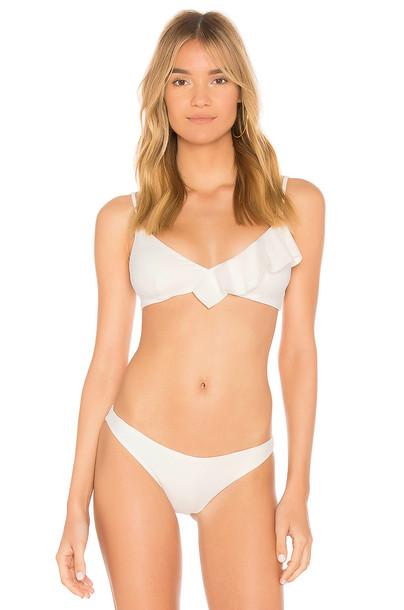 marysia swim top ruffle white