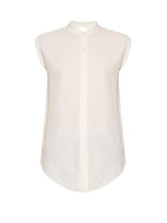 shirt back white top