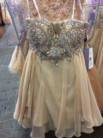 dress formal short dress jovan tan dress