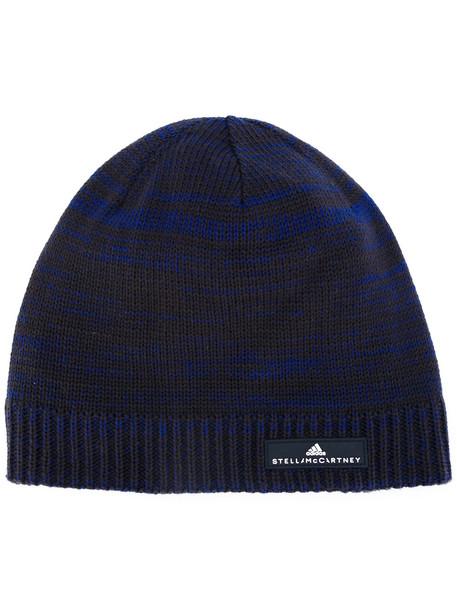 hat beanie knitted beanie blue
