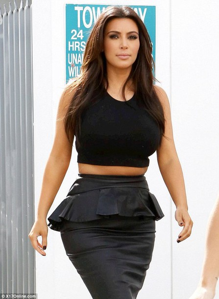 top black top kim kardashian skirt blouse