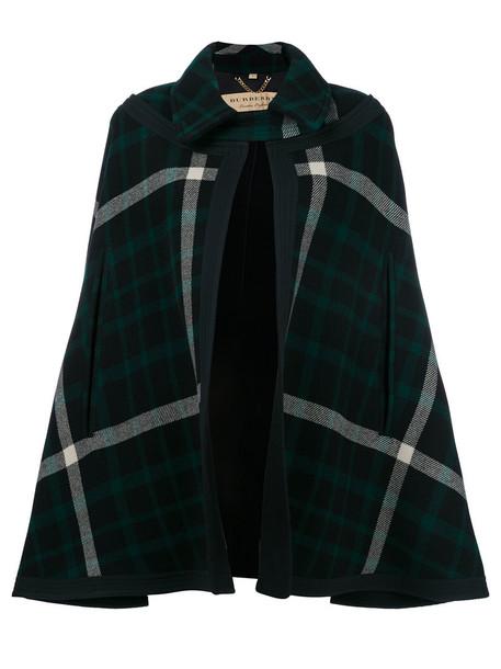Burberry cape women cotton black wool top