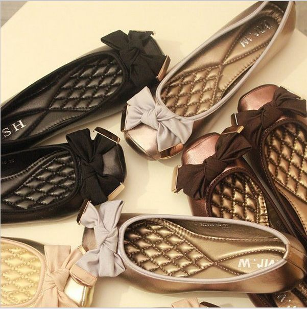 Bowkont bow loafers flats free shipping