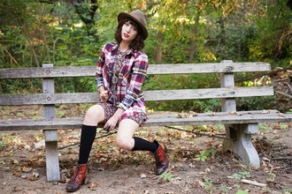 top jewels a fashion nerd blogger lumberjack knee high socks folk